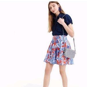 J Crew Ratti Rio Floral Palm Tree Mini Skirt 4